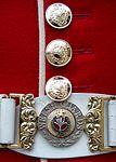 Welsh Guardsman wearing his Summer Guard Order Red Tunic. MOD 45159555.jpg