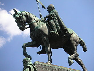 Wenceslaus I, Duke of Bohemia - Statue of Saint Wenceslas on the eponymous square in Prague