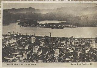 Vista do pôrto - View of the porto - Santos - Brasil