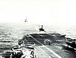 Wessex HAS1 of 815 NAS landing on USS Essex (CVS-9) in November 1963.jpg