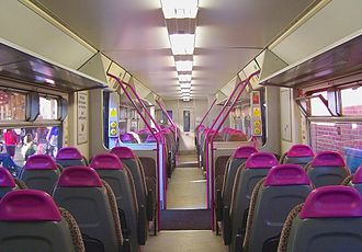 British Rail Class 150 - The interior of Wessex Trains refurbished Class 150/2
