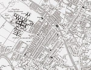 West Didsbury tram stop - Image: West Didsbury map 1911