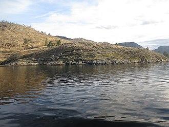 Rattlesnake Island (Okanagan Lake) - Image: Western Side of Rattlesnake Island