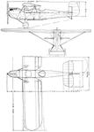 Westland Widgeon III 3-view L'Air August 15,1927.png