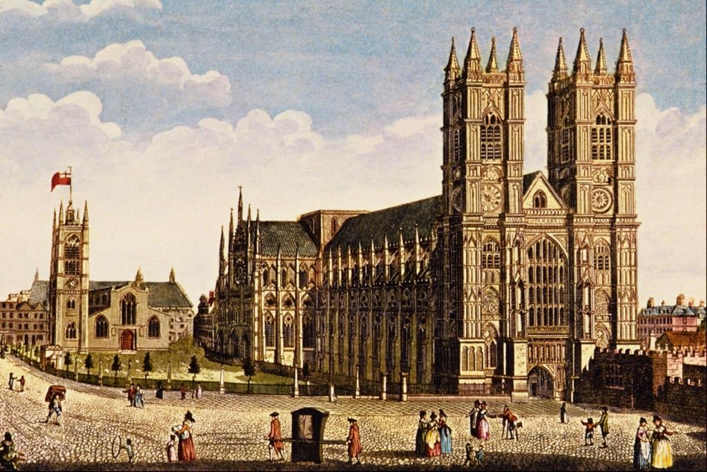 Tours néogothiques de la Westminster Abbaye par Thomas Hosmer Sheperd.