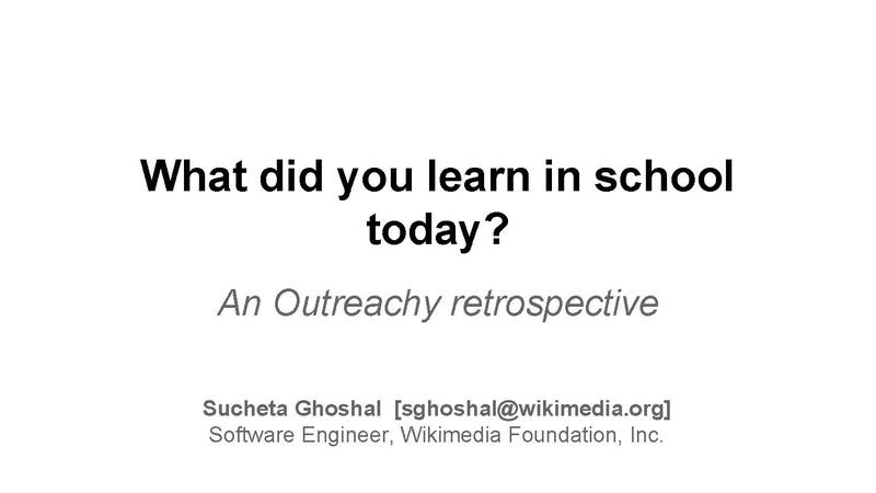 What did you learn in school today? An Outreachy Retrospective