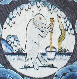 Elixir of life - The mythological White Hare making the elixir of life on the Moon, from East Asian mythology.