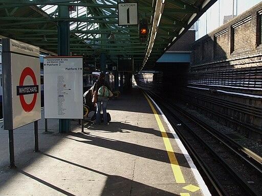 Whitechapel station platform 1 look west