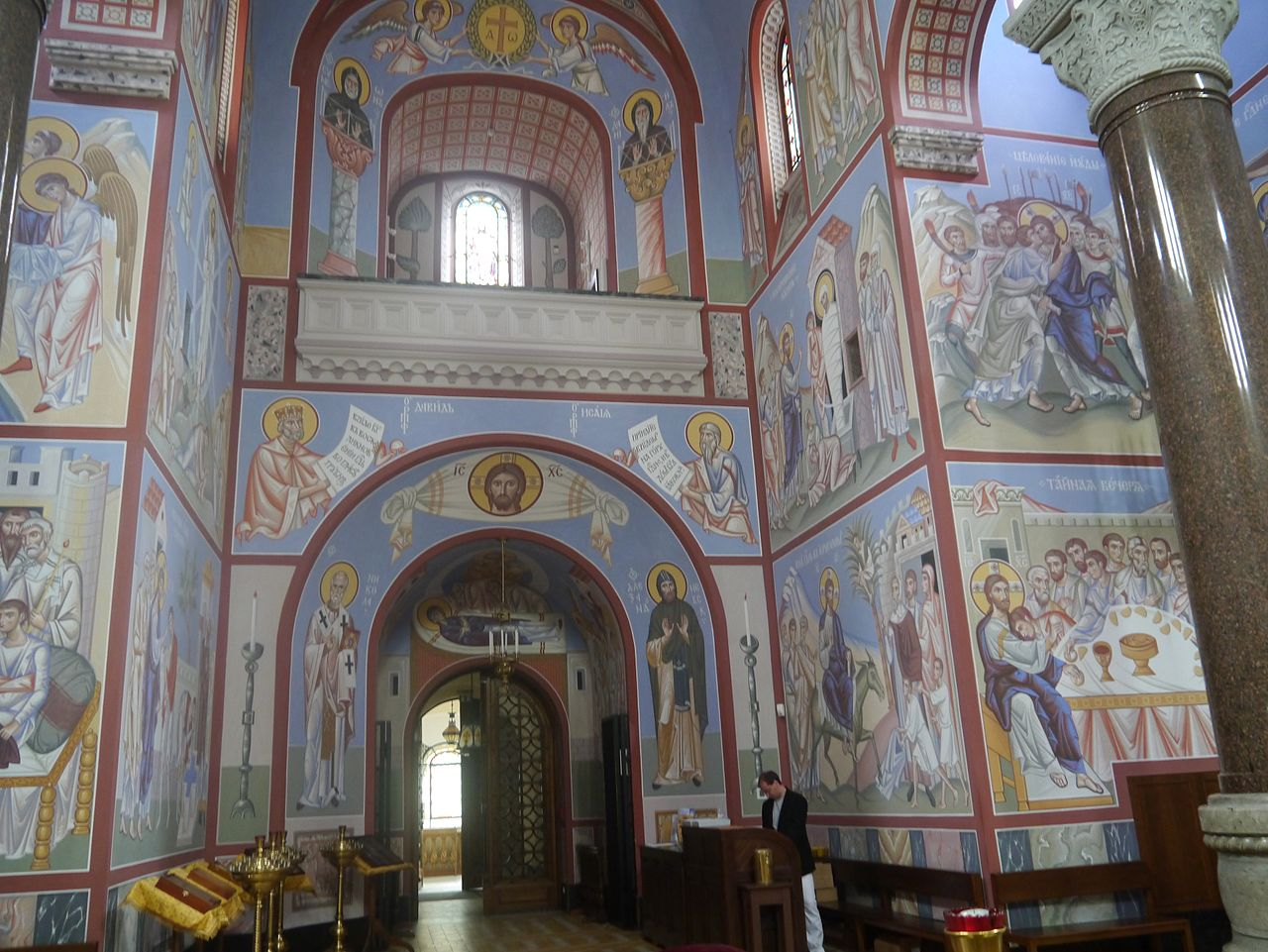 file wien russisch orthodoxe kathedrale st nikolaus innen. Black Bedroom Furniture Sets. Home Design Ideas