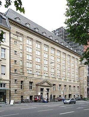 Hessian State Library - The Hessian State Library on Rheinstraße, Wiesbaden