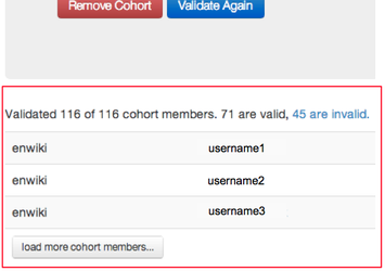 Wikimetrics upload cohort invalid users.png