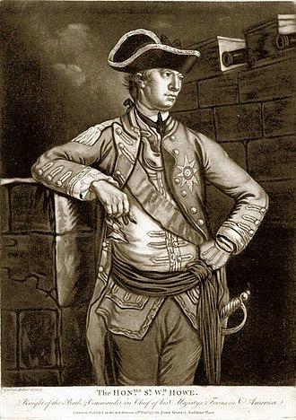 Battle of Short Hills - Lieutenant General William Howe, commander of the British army
