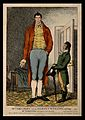 William Bradley, a giant. Coloured etching, 1810. Wellcome V0007003.jpg