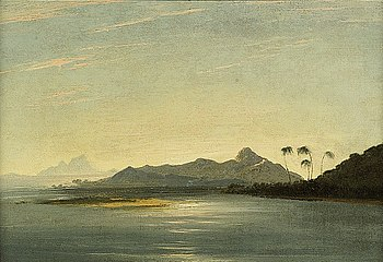William Hodges, View of the Islands of Otaha (Taaha) and Bola Bola (Bora Bora) with Part of the Island of Ulietea (Raiatea)