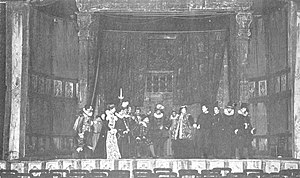 William Poel - The court scene from Poel's production of Hamlet in 1881
