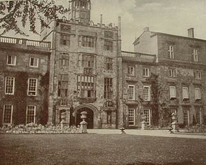 Wilton House - The east front of Wilton, photographed by Queen Alexandra circa 1907. The central tower is all that remains of the Tudor house.