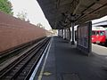 Wimbledon station tube platform 1 look north.JPG