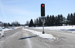 Wisconsin Highway 15 - Looking easterly from the western terminus