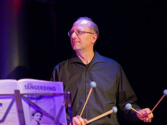Mallet percussion - Wolfgang Lackerschmid playing the vibraphone using four mallets
