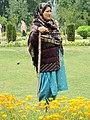 Woman in Nishat Bagh Garden - Srinagar - Jammu & Kashmir - India (26775374031).jpg