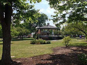 Woodstock, Illinois - The bandstand in the center of the Woodstock Square