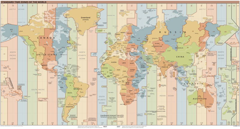 Map Of Asia Time Zones.List Of Utc Time Offsets Wikipedia