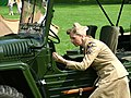 World War 2 Reenactment--jeep and woman.jpg