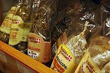 Saucissons de Savoie en vente à Méribel-Mottaret