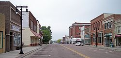 Tenth Street in downtown Worthington in 2007