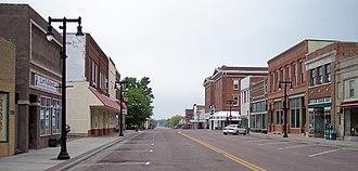 Worthington, Minnesota - Tenth Street in downtown Worthington in 2007