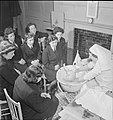 Wrens Learn Mothercraft- Members of the Women's Royal Naval Service Receive Training From the Mothercraft Training Society, London, England, UK, 1945 D23644.jpg