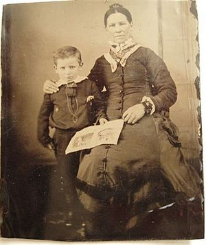 Wyatt Earp - Wyatt Earp with his mother Virginia Ann Cooksey Earp c. 1856.