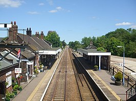 Wymondham station from the footbridge - geograph.org.uk - 1335997.jpg