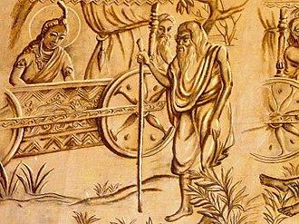 Xá Lợi Pagoda - Prince Siddhartha sees an old man.