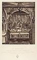 Xe Station. Jésus est dépouillé de ses Vêtements. L'emplacement de cette station est indique par la mosaïque en marbre que l'on voit devant l'autel. MET DP345543.jpg