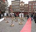 Xhibition on Old Town Square Market in Toruń after president's plane crash 2010 2.jpg