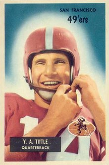 alt=Description de l'image Y. A. Tittle - 1955 Bowman.jpg.