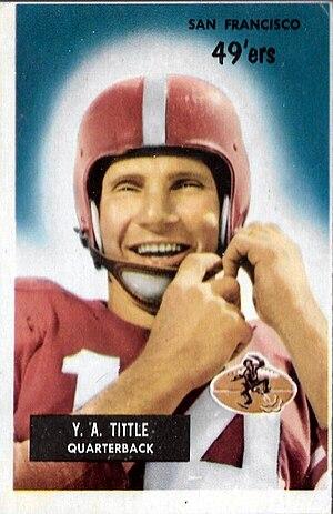 Million Dollar Backfield (San Francisco 49ers) - Y. A. Tittle