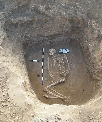 Yamna culture - Yamna culture grave, Volgograd Oblast