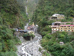 Yamuna - The Yamunotri temple on the river, dedicated to Goddess Yamuna.