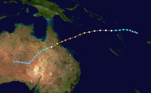 Cyclone Yasi - Image: Yasi 2011 track