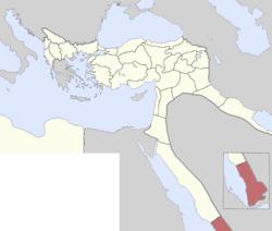 Location of Yemen Vilayet