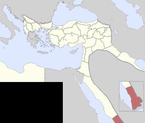 Yemen Vilayet - Yemen Vilayet in 1900