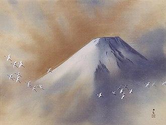 Yokoyama Taikan - Snowy Peak with Cranes