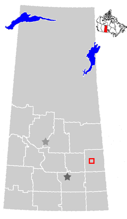 Location of Calder, Saskatchewan