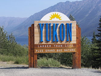Yukon border sign on Klondike Highway.jpg