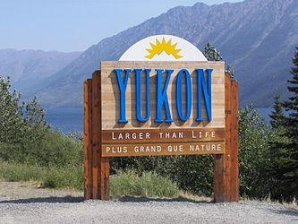 Yukon border sign on Klondike Highway.jpg