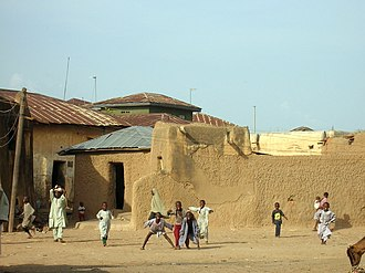Zaria - Children playing in one of the streets of Zaria