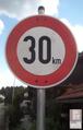 Zeichen 274 - Zulässige Höchstgeschwindigkeit - 30 km, StVO 1970.png