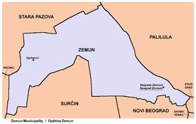 zemunski kej mapa Gradska opština Zemun — Vikipedija, slobodna enciklopedija zemunski kej mapa
